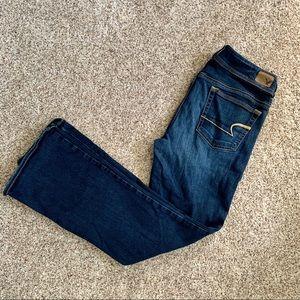 AEO Dark Wash Kickboot Jeans (Short)